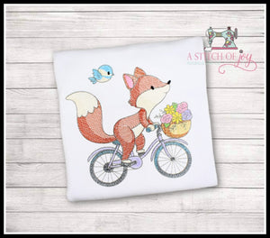 Fox Riding Bicycle