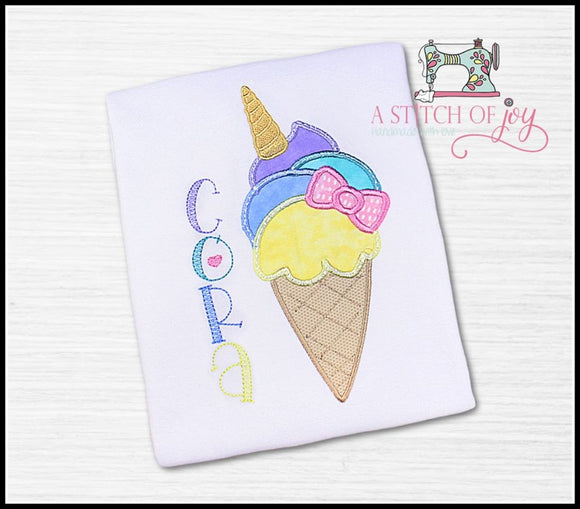 Unicorn Ice Cream Cone