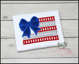 American Flag with Bow