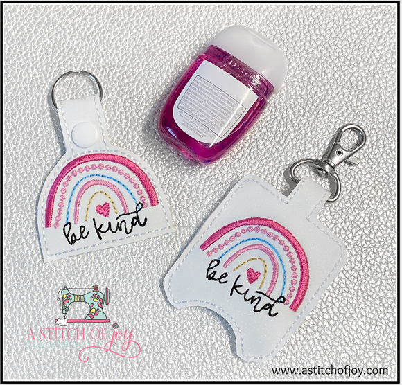 Be Kind Rainbow Key Fob and/or Hand Sanitizer Holder