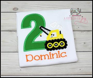 Construction Crane Birthday Shirt