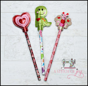 Valentine Day Pencil Toppers