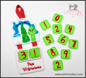 Grinch Inspired Countdown to Christmas