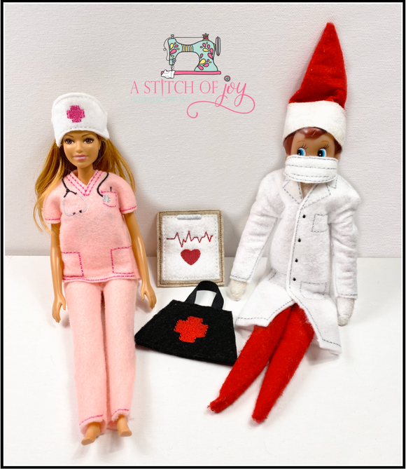 Elf Doctor and Nurse Set