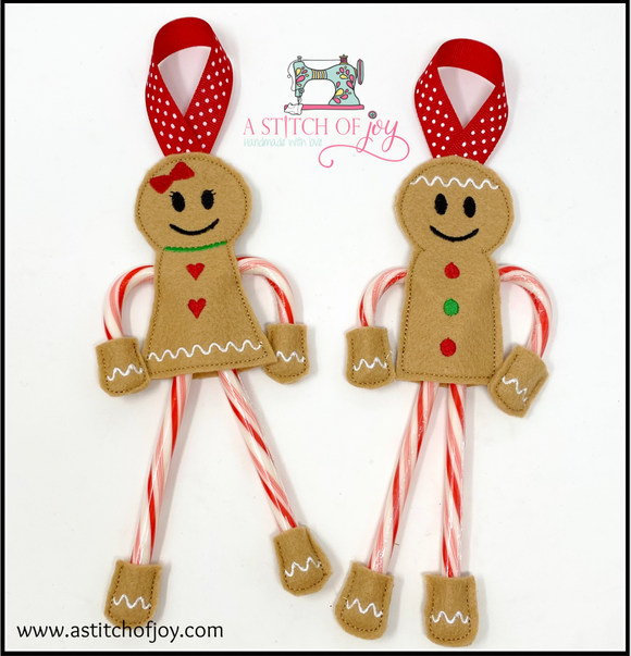 Gingerbread Boy or Girl Candy Holders