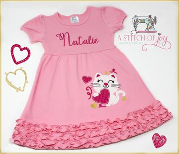 Valentine Kitty Dress