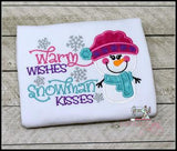 Warm Wishes Snowman Kisses