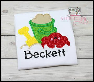 Beach Bucket and Crab