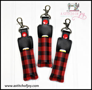 Buffalo Plaid Lip Balm Holder