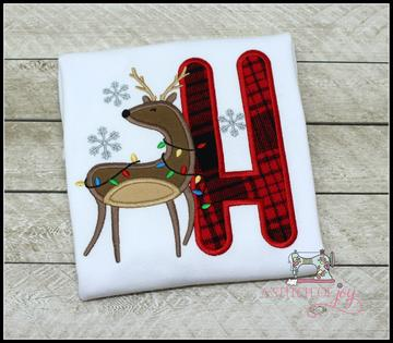 Buffalo Plaid Reindeer Alpha