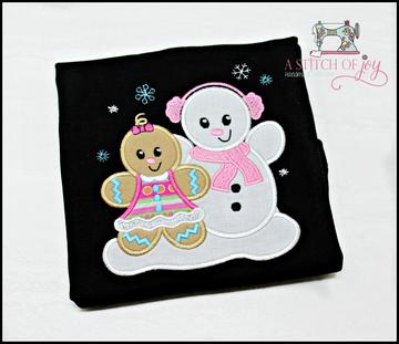 Gingerbread Girl & Snowman