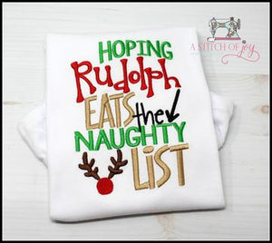 Hoping Rudolph Eats the Naughty List
