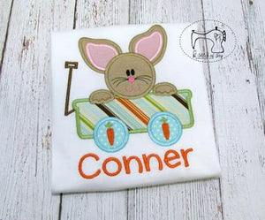 Easter Bunny in a Wagon