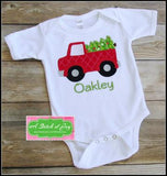 Truck and Christmas Tree Bodysuit or Shirt