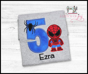 Spiderman (Inspired) Birthday Shirt