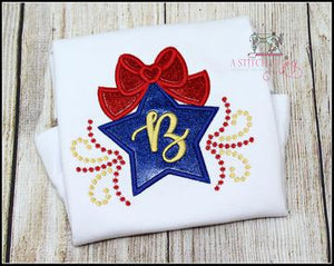 Patriotic Star with Bow