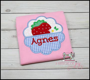 Scalloped Frame Strawberry