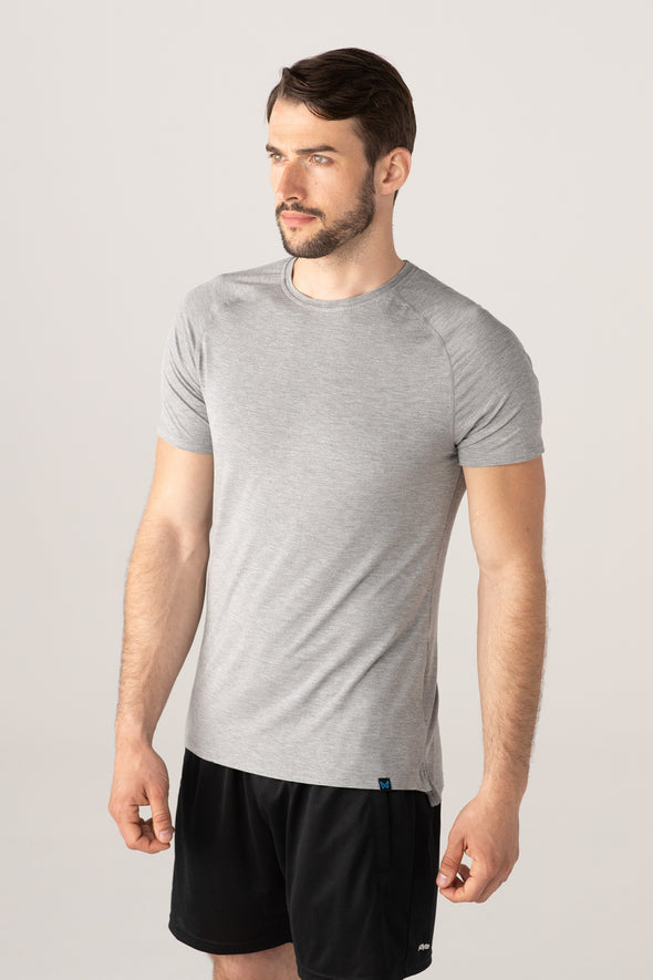 edge short sleeve - grey marl