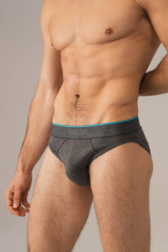 vital brief - grey marl