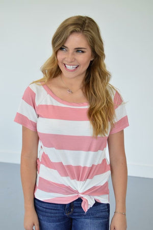 Mauve Stripes Top - MOB Fashion Boutique