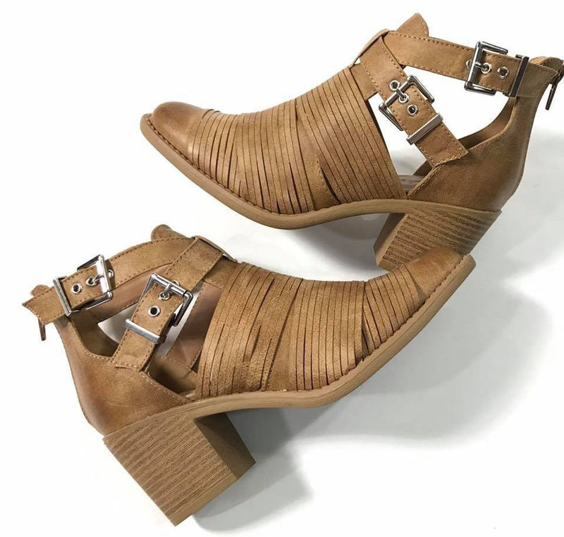 The Mika Bootie in Camel - MOB Fashion Boutique