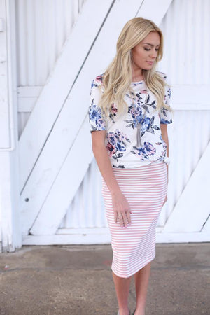 Courtney Skirt in Pink - MOB Fashion Boutique