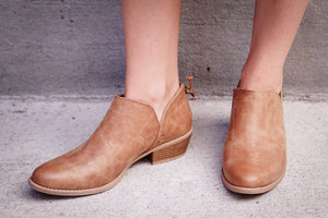 Sarah booties in Camel - MOB Fashion Boutique
