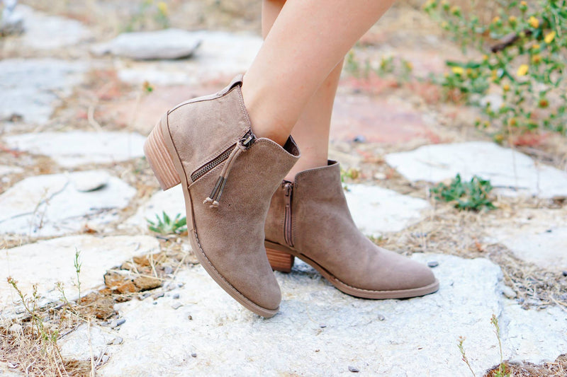 Jenni Booties in Taupe - MOB Fashion Boutique
