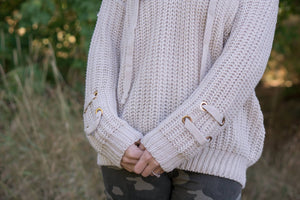 Criss Cross Chunky Sweater - MOB Fashion Boutique