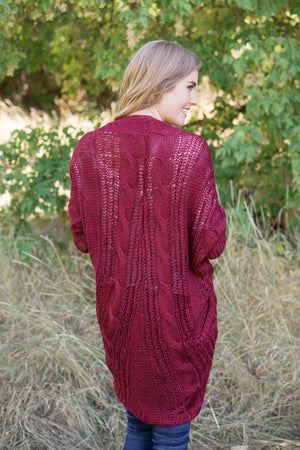 Kylee Cardigan | Cherry - MOB Fashion Boutique