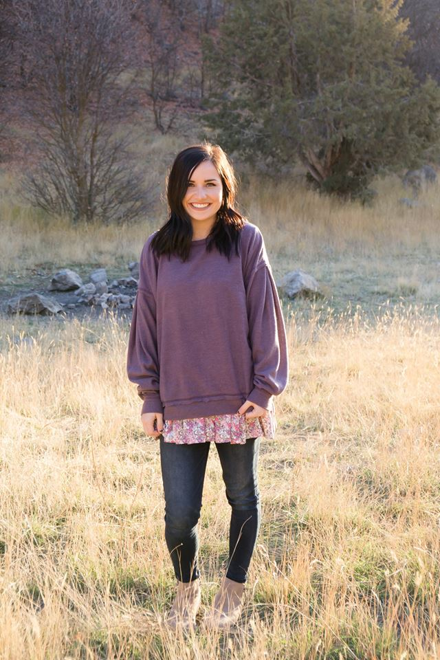 Presley Sweater in Plum - MOB Fashion Boutique