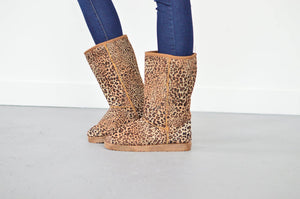 Leopard Ugg Style Boots - MOB Fashion Boutique