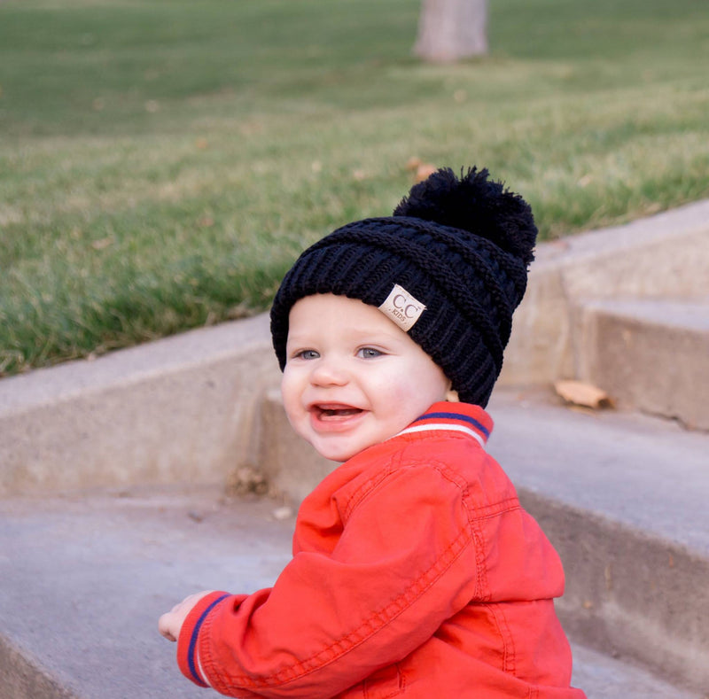 Kids C.C. Beanies WITH Pom - MOB Fashion Boutique