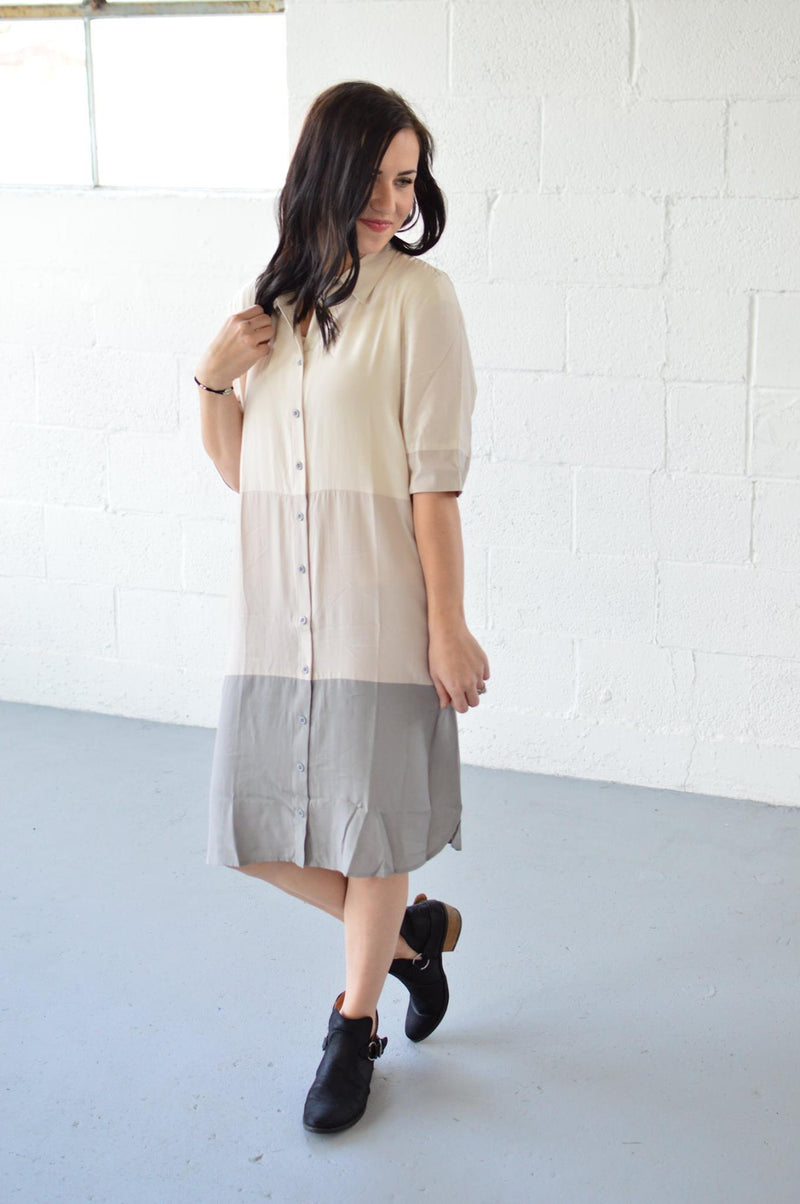 Casual Shirt Dress - MOB Fashion Boutique