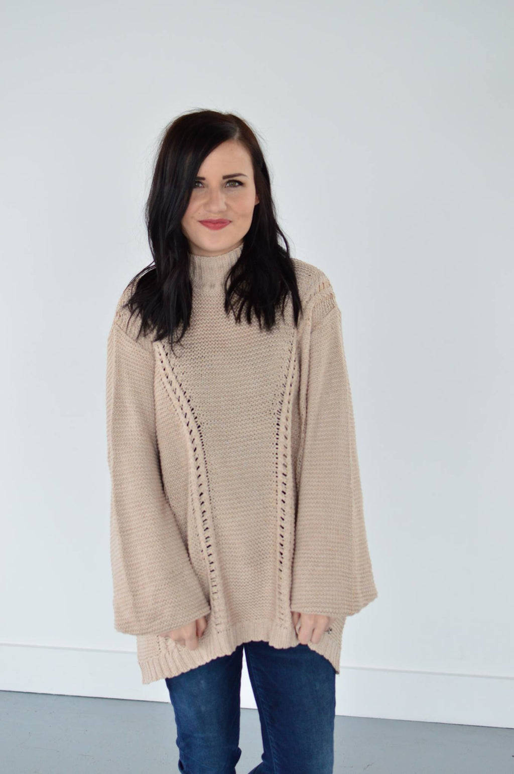 Haley Turtleneck in Oatmeal - MOB Fashion Boutique