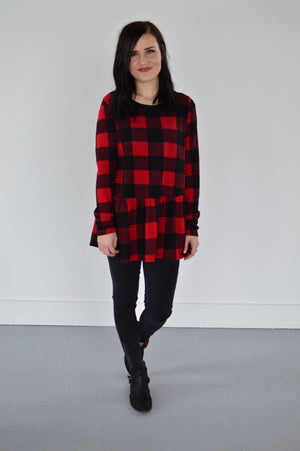 Holli Buffalo Plaid Babydoll - MOB Fashion Boutique