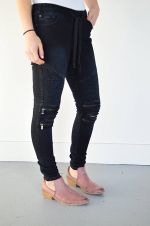 R.J. Moto Joggers | Black - MOB Fashion Boutique