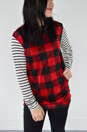 Letty Buffalo Plaid Top - MOB Fashion Boutique