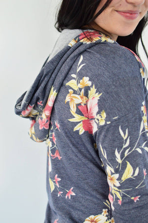 Cortnie Floral Hoodie - MOB Fashion Boutique