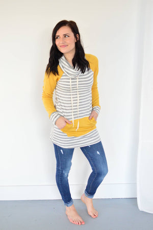 The Stella Pullover | Mustard - MOB Fashion Boutique
