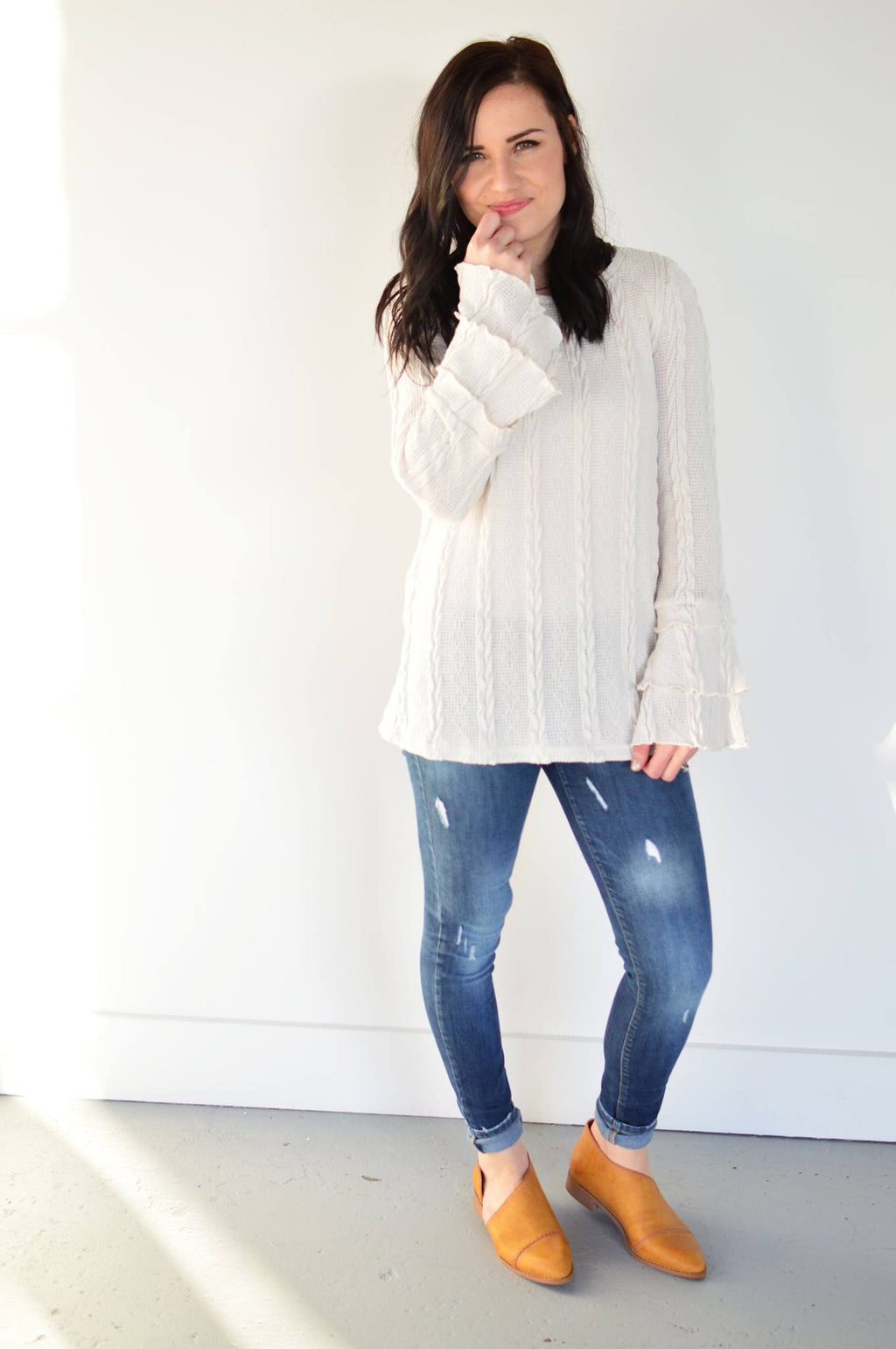 Lydia Bell Sleeve Sweater - MOB Fashion Boutique