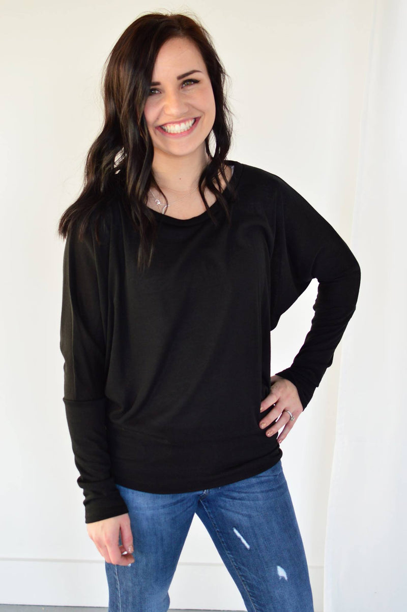 The Must Have Dolman Sleeve Top | Black - MOB Fashion Boutique