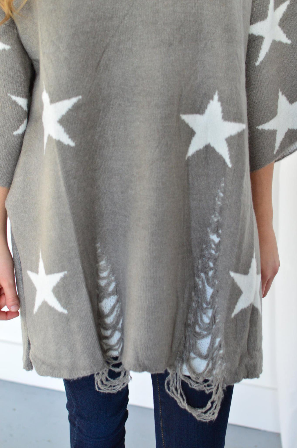 Seeing Stars Sweater Tunic - MOB Fashion Boutique