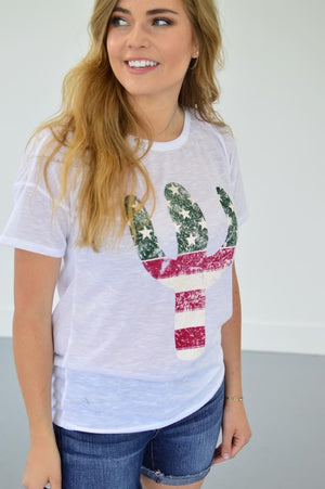 American Cactus Tee | Ivory - MOB Fashion Boutique