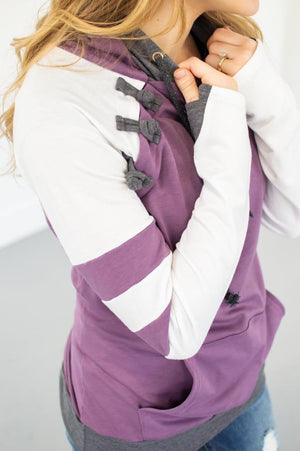 Varsity Violet Hoodie with Nursing Option! - MOB Fashion Boutique