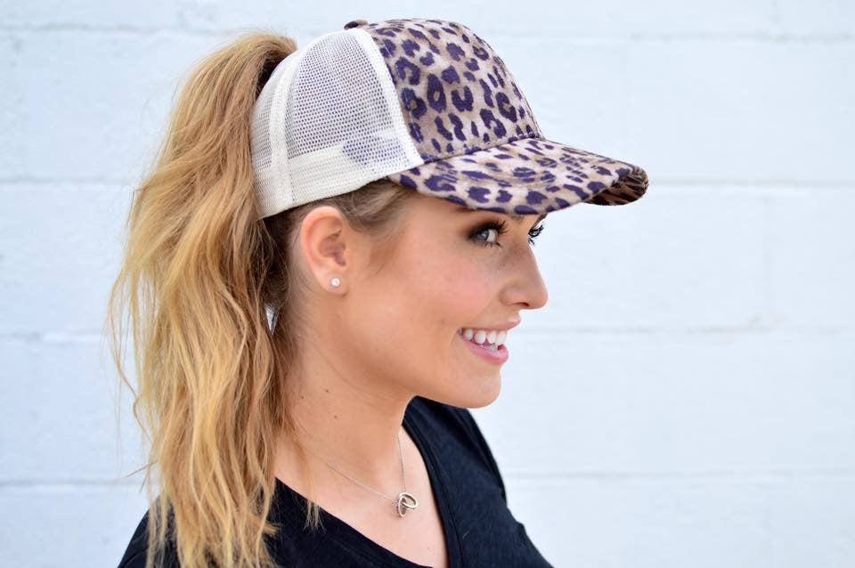 C.C. Pony Tail Trucker | Leopard - MOB Fashion Boutique