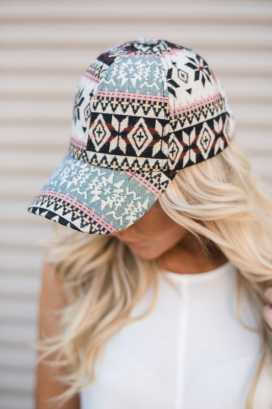Harper Aztec Baseball Hat - MOB Fashion Boutique