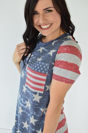American Salute Tee - MOB Fashion Boutique