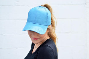 C.C. Pony Tail Cap | Teal - MOB Fashion Boutique