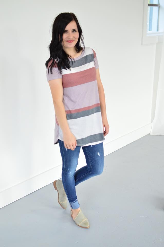 Tomorrow's Striped Top - MOB Fashion Boutique